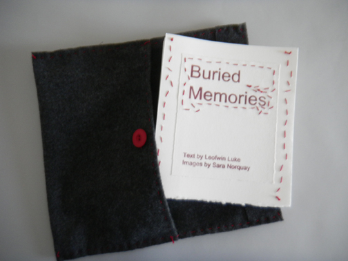 Book with felt envelope